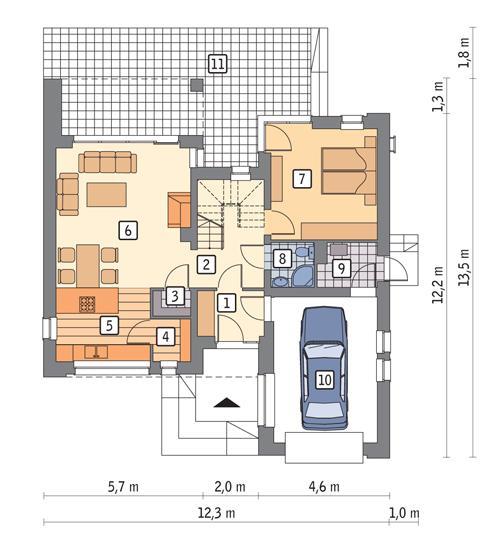 budowa domu Widoczny (z wentylacją mechaniczną i rekuperacją) EC264 - New-House