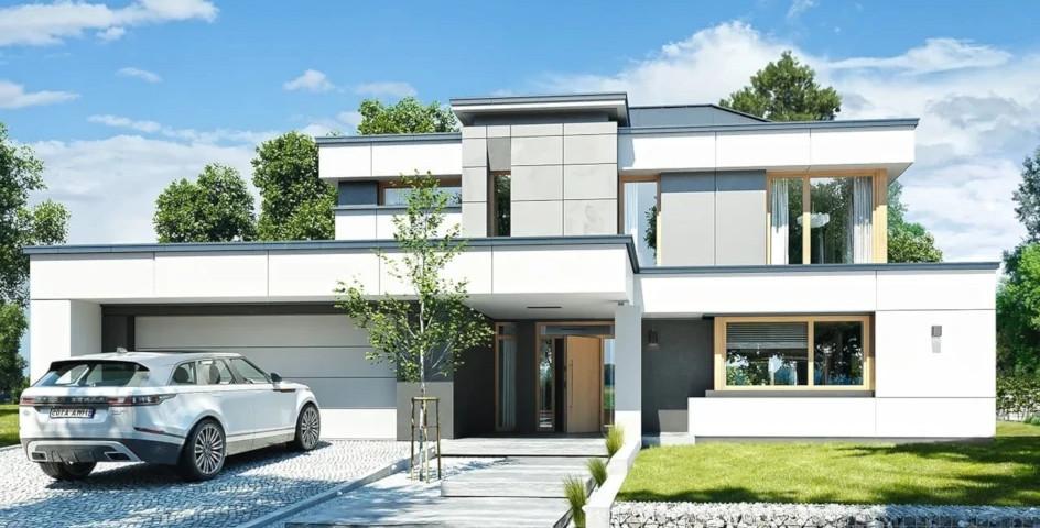 budowa domu Willa Floryda 3 (odbicie lustrzane) - New-House