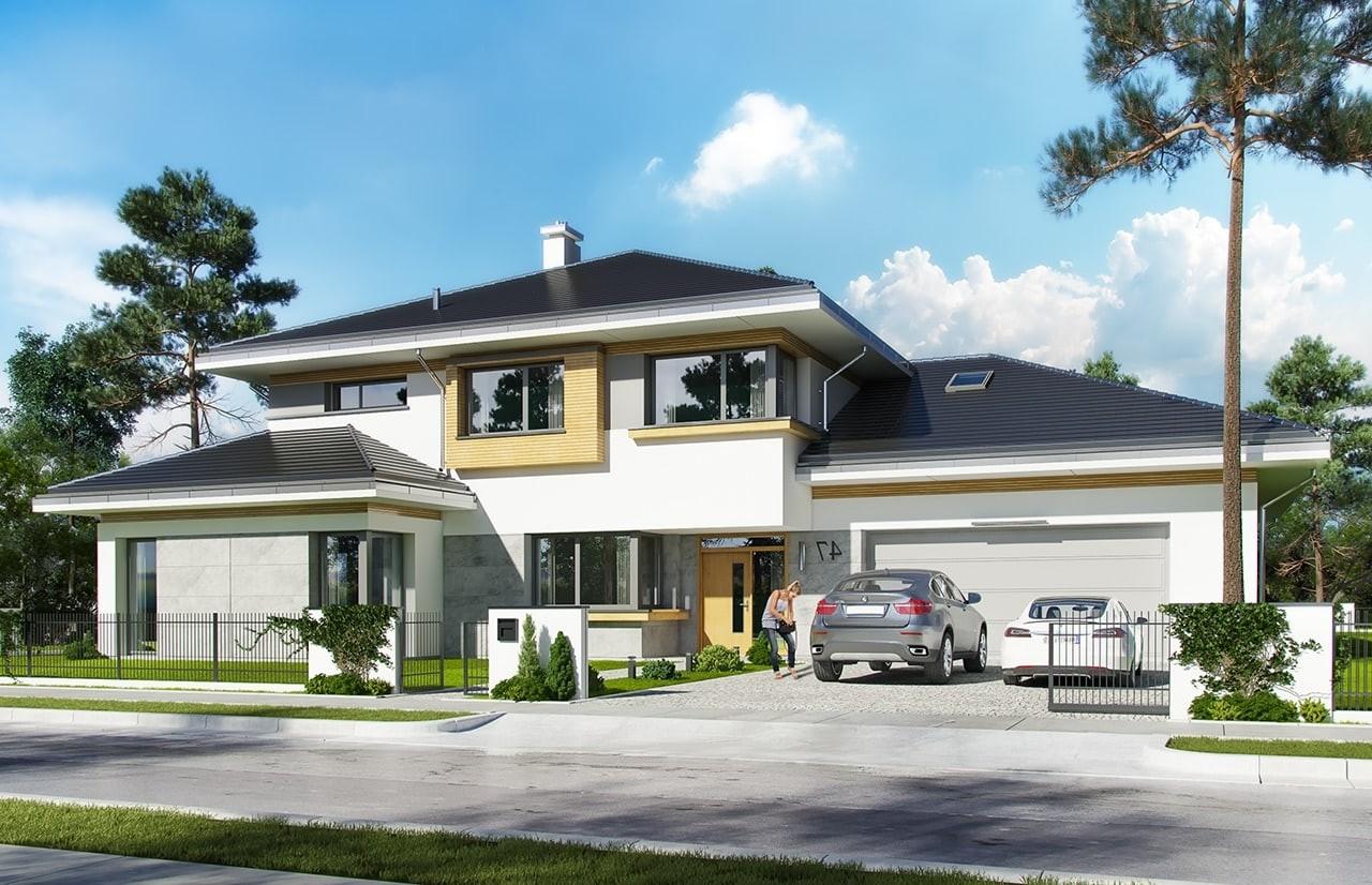 budowa domu Spokojny zakątek (odbicie lustrzane) - New-House