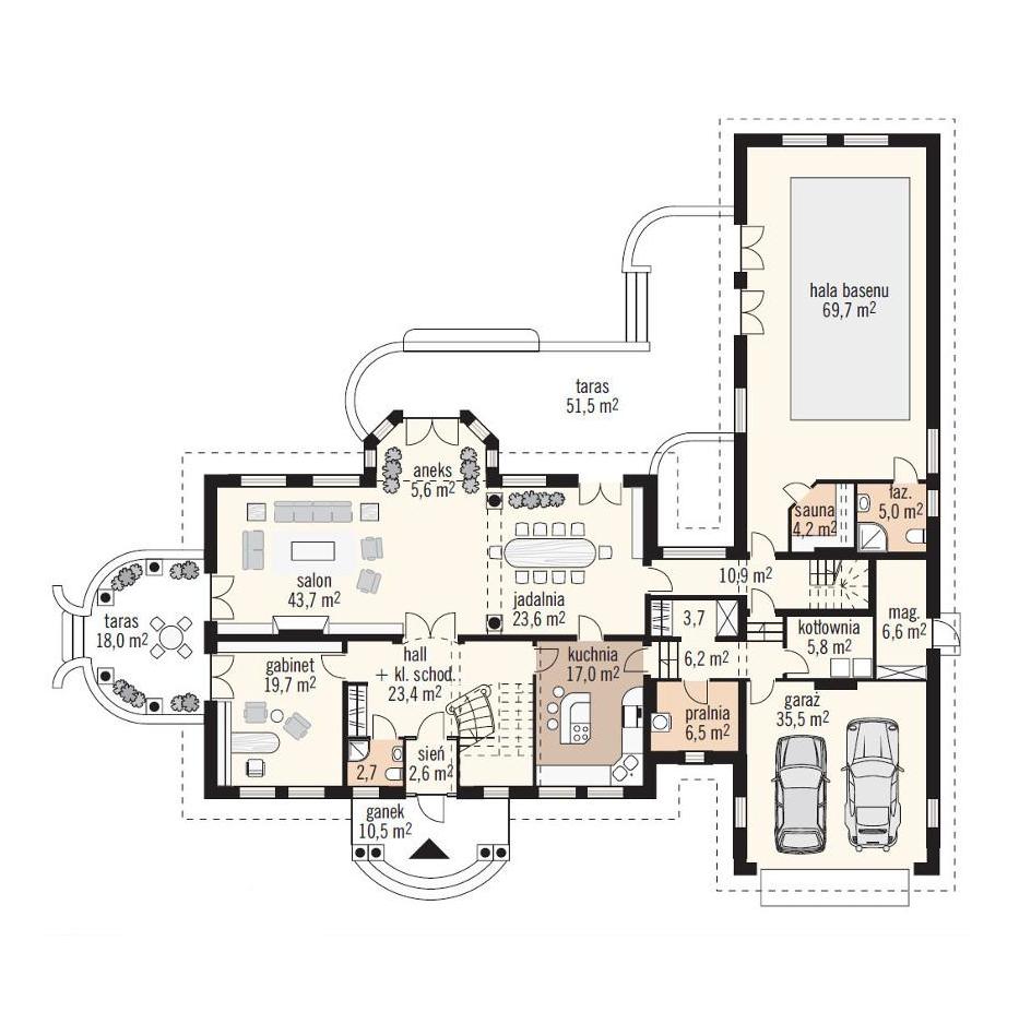 Budowa domu Ewelina II z basenem - New House