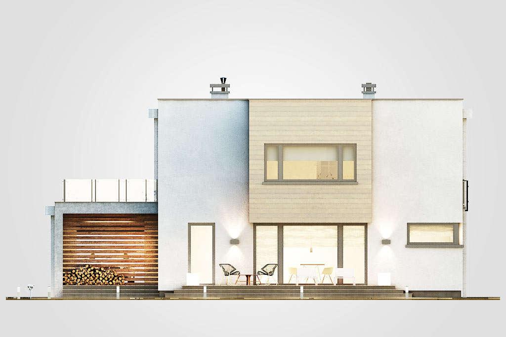 budowa domu QUBUS II (odbicie lustrzane) - New-House