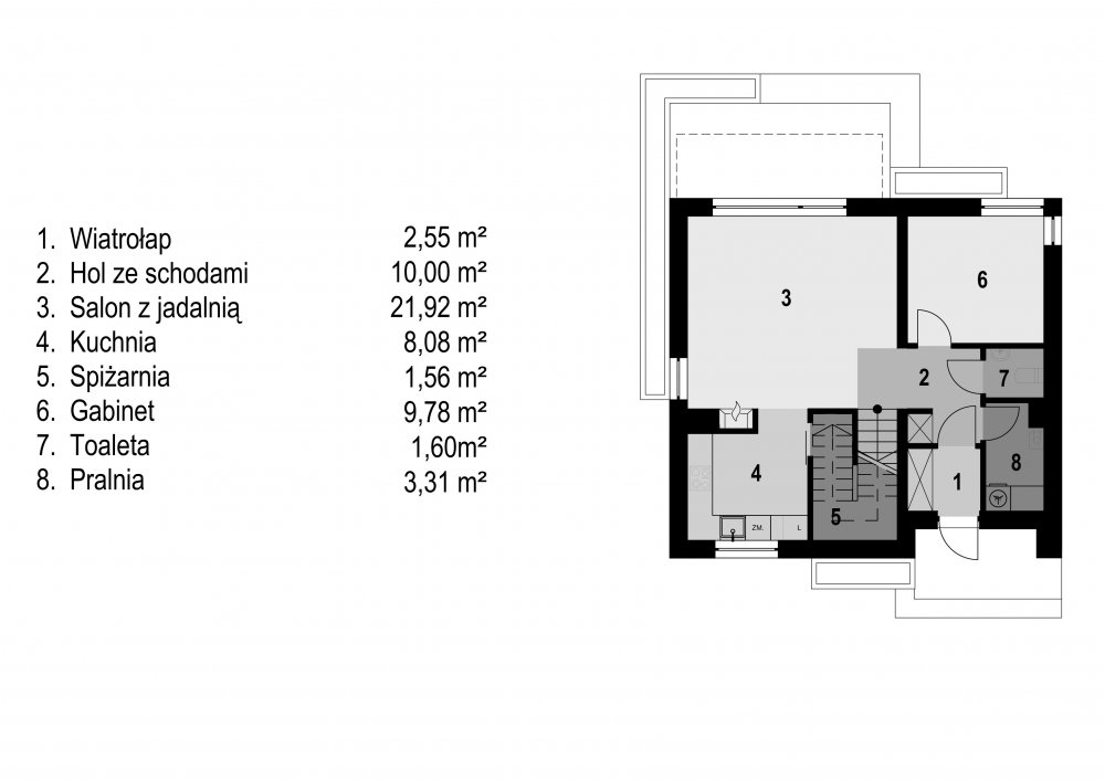 budowa domu Eco 04  (Odbicie lustrzane) - New-House
