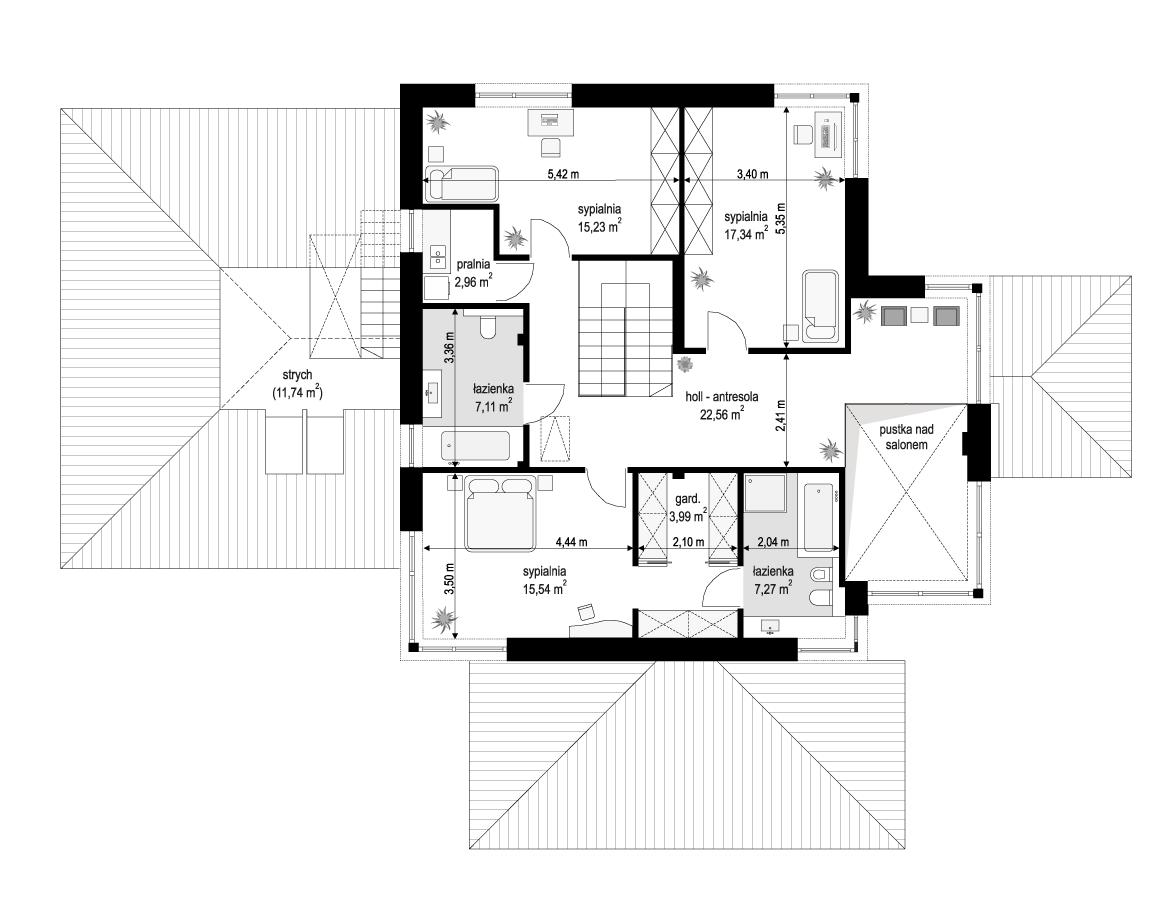 budowa domu Dom z widokiem 3 wariant B (odbicie lustrzane) - New-House
