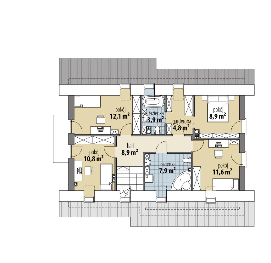 budowa domu Emilia (odbicie lustrzane) - New-House