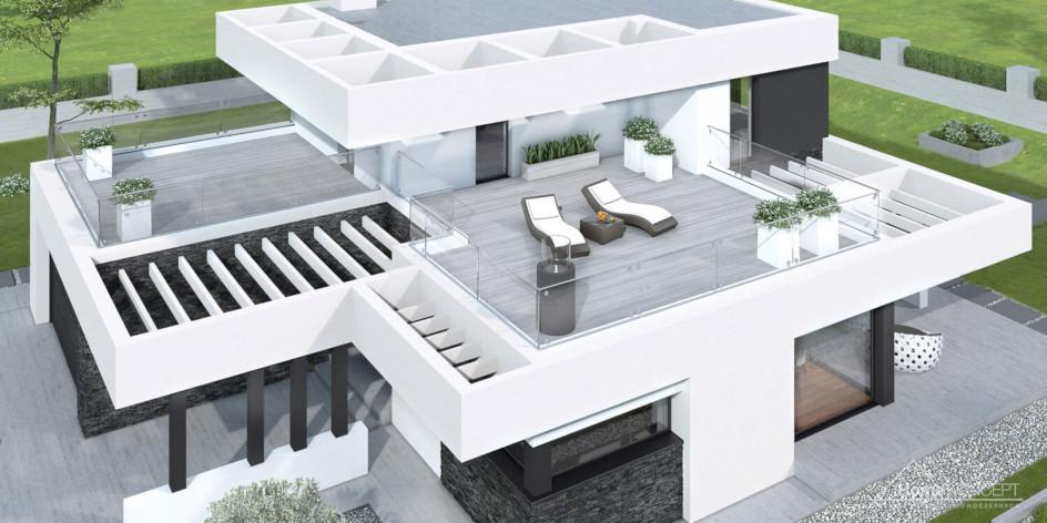 budowa domu HomeKONCEPT-41 (odbicie lustrzane) - New-House